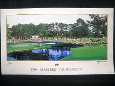 Hiro Yamagata Jack Nicklaus 1986 Augusta Masters Golf Lithograph