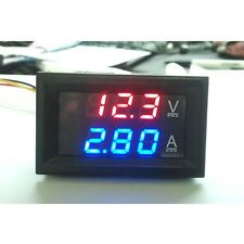DC 100V 10A Voltmeter Ammeter Dual Color Display Amp Digital Volt Meter Gauge US