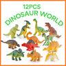 12PCS Plastic Lifelike Dinosaur Model Figure Animal Figurine Attractive Toys New