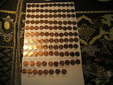 CANADA COMPLETE SET PENNIES 1920 TO 2012 SET WITH 1957 TO 2012 BU MINT COINS