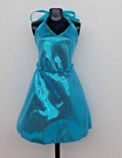 2017 BARBIE CURVY DOLL CLOTHING FASHIONISTAS POP STAR BLUE METALLIC LINED DRESS
