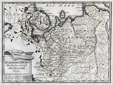 RUSSLAND ARCHANGELSK schöne Landkarte von Reilly 1791 Original!