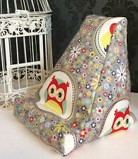 Red Owl Design Cushion Pillow Beanbag Bean Bag Suits Ipad Books & Tablets