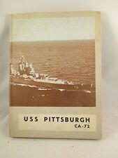 USS PITTSBURGH CA-72 1953-1954 YEARBOOK CRUISE BOOK / KOREAN LETTER APPRECIATION