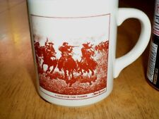 """U.S. OLD WEST - """" A DASH FOR THE TIMBER """" by: F. REMINGTON, Ceramic Coffee Cup"""