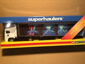 CORGI SUPERHAULIERS  TY86811 1.6/4scale. ERF CAB & CONTAINER MG ROVER