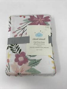 Cloud Island Crib Fitted Sheet 100% Cotton MEADOW
