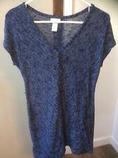 Sweater Tunic Mini Dress Motherhood Maternity Semi Sheer Cap Sleeve Sz SMALL