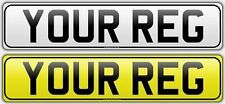 Pair Standard Number Plates with BORDER 100% MOT Compliant - FREE POST Car & Van
