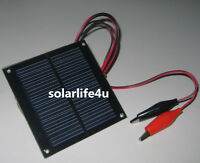 0.5W 5V 100mA Mini Solar Panel Clip Module System Epoxy Cells Charger New UK
