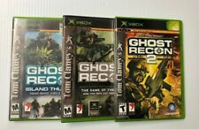 XBox Ghost Recon 2 Final Assault Island Thunder Tom Clancy,s Video Game Lot of 3