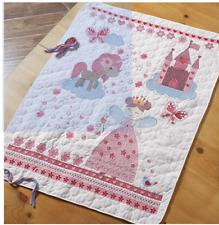 "Bucilla Fairytale Princess Crib Cover Stamped Cross Stitch Kit # 47664 34"" x 43'"