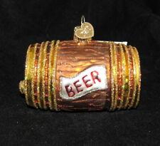 Beer Keg Old World Christmas Glass Tree Ornament 2005