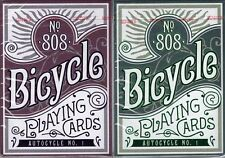 AUTOCYCLE NO.1 Bicycle Playing Cards 2 Deck Set in Collectors Tin Purple & Green