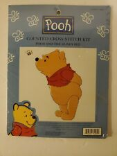 Vintage WINNIE THE POOH  POOH & THE HONEY BEE Counted Cross Stitch KIT