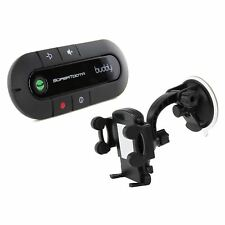 Supertooth Buddy Bluetooth Handsfree Visor Speakerphone Car Kit + Holder - Black