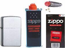Zippo Benzin Feuerzeug chromgebürstet Zippo Benzin Zippo Zündsteine Zippo Docht