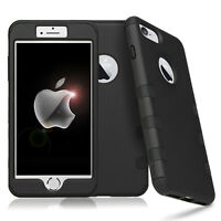 For Apple iPhone 8 7 Plus 6s 6 Tough Shockproof Armor Hybrid Protective Case CA