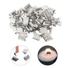 50Pcs Wood Candle Wicks Base Clip Iron Candles Making Diy Wicks Holder Stand  Wm