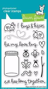 Lawn Fawn Clear Stamp Set  (17)  BUGS AND KISSES LF789