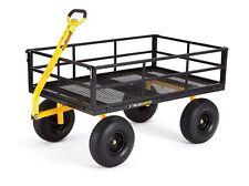 Garden Wagon Heavy Duty Cart Steel Utility Gardening Yard Lawn Dump 1400 Lb