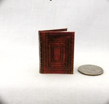 GUTENBERG ILLUMINATED BIBLE Miniature Book Dollhouse 1:12 Scale Latin Manuscript