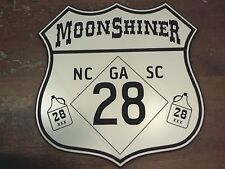 Engraved HWY 28 Moonshiner custom highway road sign garage man cave