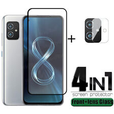 For Asus Zenfone 8 Camera Lens Soft Film + 9H Tempered Glass Screen Protector