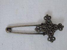 * Nuovo * vintage Sicurezza Perno a Croce Spilla Sciarpa Scialle Fibbia della Cintura