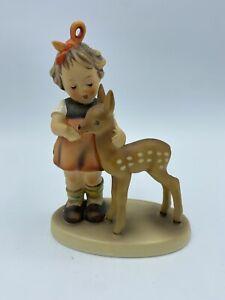 1947 Hummel Collectible Porcelain Figurine Friends 136/1 Little Girl Fawn Deer