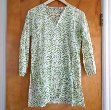 Roberta Roller Rabbit Tunic Top 10 M green bamboo leaf cotton short kurta