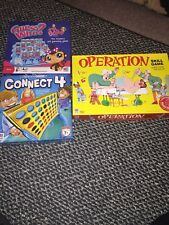 Milton Bradley Game Lot - Operation Skill Game, Connect 4, Guess Who