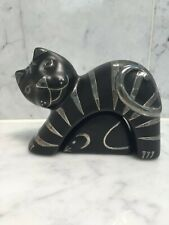 Emilia Castillo Salt and Pepper Shakers Cat And Mouse Silver on Ceramic Mexico