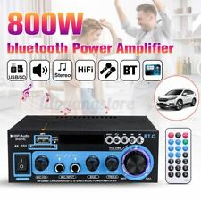 800W bluetooth Home 2-Channel Stereo Power Amplifier Audio USB AMP FM DC