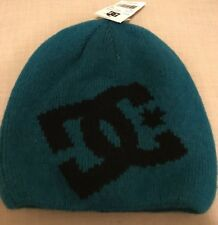 DC Shoes Men's Big Star Beanie Teal/Blue With Black Snow Cold Hat