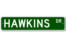 HAWKINS Street Sign - Personalized Last Name Sign