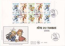 Enveloppe grand format 1er jour 2006 Fête du timbre Spirou