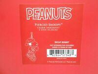 "New in Box Luxurious Lenox Peanuts Pierced Snoopy Christmas Ornament 3 1/4"" w2s5"