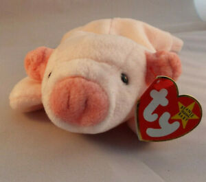 TY BEANIE BABY - SQUEALER - PIG  - born 1993 - MINT - RETIRED RARE