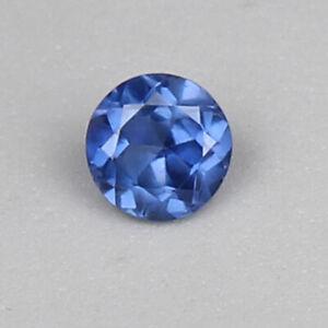 Saphir Naturel Bleu Ceylan Bleuet 2.15 CT Rond Desseré Certifié Pierre Précieuse