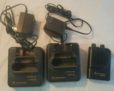 Motorola Minitor Iii Low Band Pager w/ (X2) Charger, Power Supply