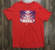 Nike Men's United States of America USA Soccer 2XL Slim Red T-Shirt 588235 XXL