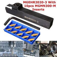 MGEHR2020-3 UTENSILE PER TORNIO UTENSILI + 10X MGMN300-M INSERTI PLACCHETTA SET