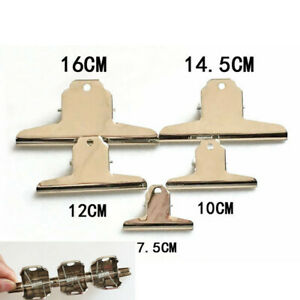 2Pcs Strong Clamp Clips Bulldog Stainless Steel Hinge Large Office Supplies