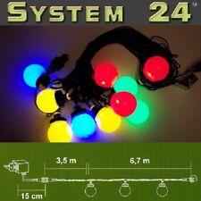 System 24 LED Party-Lichterkette Start inkl. Trafo multicolor 492-51 außen