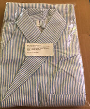 Dressing Robe Seersucker Striped 3-pocket Large New orig. pkg cotton-polyester