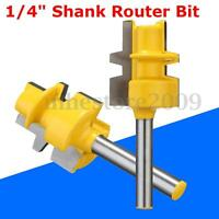 """2-5/8"""" Glue Joint Router Bit Medium Reversible 1/4"""" Shank For Woodworking Tool"""
