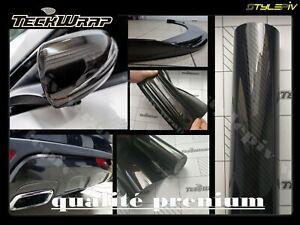 Covering prénium TECKWRAP film carbone brillant 152x20 cm vinyle thermoformable