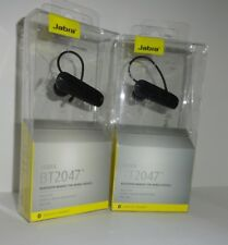 LOT OF 2 Jabra Wireless Bluetooth Headset , Connect 2 Devices-BT2047