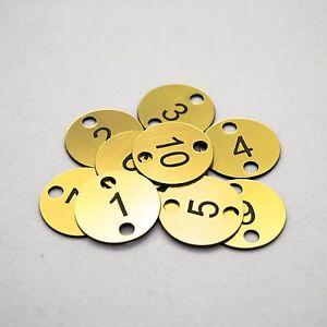 10x3cm 2 holes Engraved Number Discs, Table, Tags, Locker, Pub, Restaurant